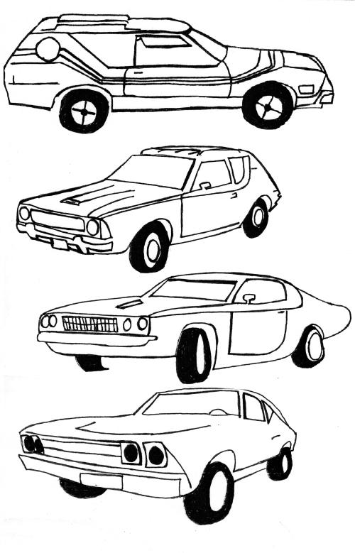 Seventies cars.
