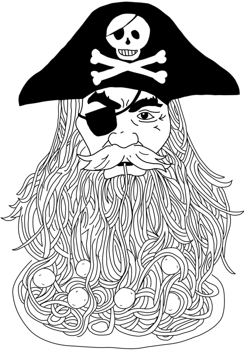 The Dreaded Pirate Spaghetti Beard