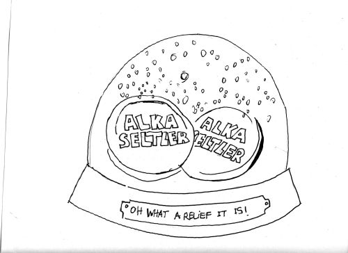 The Alka Seltzer Snow Globe